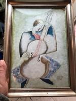 Kádár Béla jelzéssel, vegyestechnika festmény, 20 x 27 cm-es.