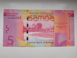 Szamoa  5 tala  2008  UNC további bankjegyek a kínálatomban a galérián!