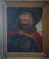 I. Rákóczi Ferenc portré! 1898-as olajfestmény! Köves Izsó után