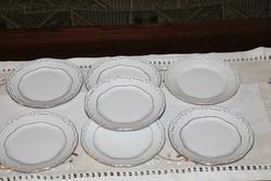 Zsolnay barokk süteményes kistányérok 7 db