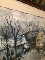 Szalóky Sándor akvarell 70'