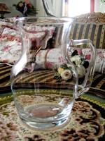 Gyönyörű szép, kecses formájú, antik, üveg kancsó, hibátlan, ajándékozható állapotban