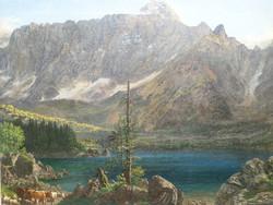 Kiváló kvalitású biedermeier festmény