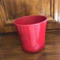Német piros kerámia kaspó 14 cm magas 14.5 cm átmérő