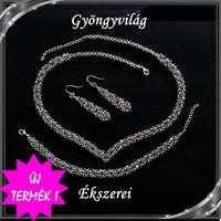 Esküvői, menyasszonyi, alkalmi ékszer szett, swarovszki kristály SSZE-SW01-1 5328