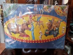 Régi Magyar Cirkusz és Varieté plakát az  1970-es évekből