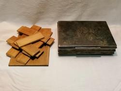 Osztott ezüst doboz 323 gramm fa szerelékek nélkül