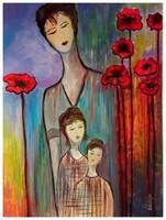 Való Ibolya Soha el nem múló szeretet c. festménye