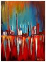 Való Ibolya Utolsó napsugarak c. festménye