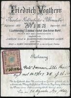 Ausztria Bécs, Friedrich Vogtherr ékszerész, aranyműves és órásmester számlája 1899