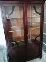 Art Deco könyvszekrény vitrin felújított
