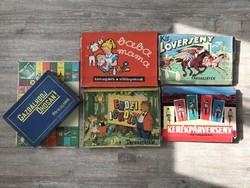 Ritka retró társasjáték csomag 50~60-as évekből