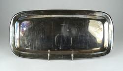1C339 Régi vendéglátós hosszúkás ezüstözött fém kínáló tálca 37 cm