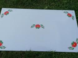Zománc falvédő kályha mögé magyaros mintával tökéletes 89 x 49 cm  Bonyhádi