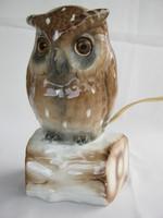 Rudolstadt porcelán bagoly lámpa