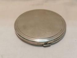 Ezüst nagy kerek púderes szelence