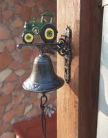 Öntöttvas zetoros,traktoros  csengő, kolomp, harang, ajtòdísz