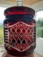 Ólomkristàly rubin bonbonier