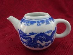 Keleti porcelán, sárkány mintás tejkiöntő, magassága 7 cm.