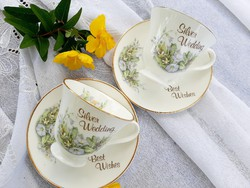 Angol 25. Hazassági évfordulós csészék