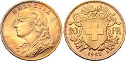 Arany 20 frank  6.47g, 21mm
