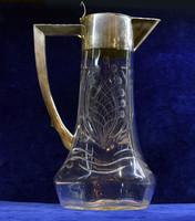 Karafa ezüst és üveg