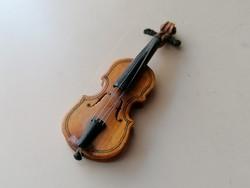 Régi kis fa hegedű (vitrin tárgy, dekoráció)