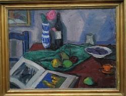 Dobi Piroska, csendélet képcsarnok címke! Gyönyörű asztali csendélet, kiváló színek!