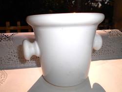 Antik vastag, súlyos porcelán  mozsár