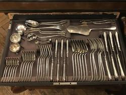 Ezüst 6 személyes evőeszközkészlet - kerek angol fazon