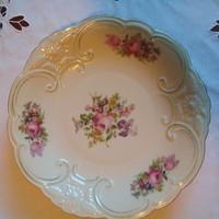 Antik krémszínű, szépséges Berauter Bavaria tál, tányér, asztalközép 27 cm