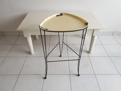 Régi retro fémvázas tálcás virágtartó állvány mid century asztal