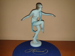 Immaculate Herend ballet dancer nude figure