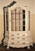 Régi festett neobarokk vitrin