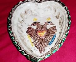 Címeres mázas cserép sütőforma