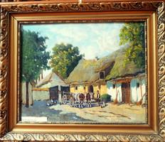 Németh György: (1888-1962): Falusi udvar