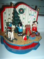 Vintage  fa karácsonyi zenedoboz