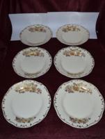 Ritka dekoros Zsolnay 6 db csemegés tányér  ( 19,2 cm ) ( DBZ 00120 )