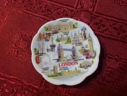 Angol porcelán, mini asztalközép, London felirattal és nevezetességével.