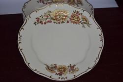 Ritka dekoros Zsolnay 6 db tányér 02  ( 3 x 25,5 cm )  ( DBZ 00120 )