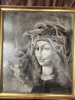 Szász Endre stílusú festmény jelzés nélkül