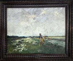 Neogrády Antal (1861-1942): Aratásról hazafelé