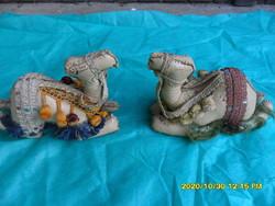 2 dromedár teve keleti bőr ajándék