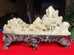Régi Keleti Faragott Kő 3D Tájkép
