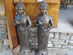Hatalmas Buddha 1db álló 120cm kő Thai Keleti szobor Feng Shui kertépítő vagy lakás fürdő dekor