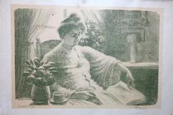 Ürmös Péter:  Női portré 1917