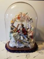 Nagyméretű német barokk porcelán