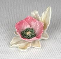 1C367 Régi jelzett rózsaszín ENS porcelán virág