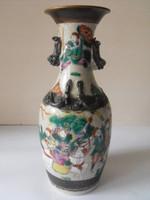 Antik keleti váza bronz   v. réz peremmel