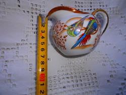 Antik tradicionális japán mintával  kézzel festett porcelán tejszínes  kancsó